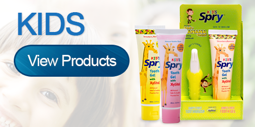 Kid Xylitol Products by Spry Dental Defense