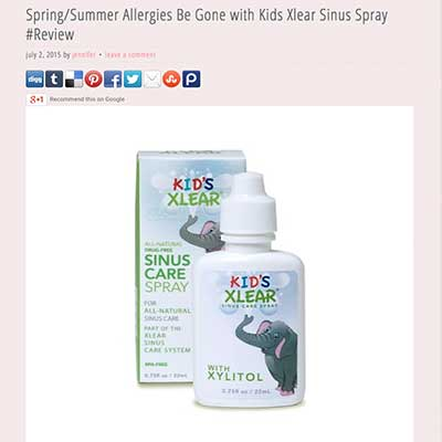 Kid's Xlear Saline Nasal Spray with xylitol