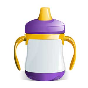 Only water in sippy cups for oral health