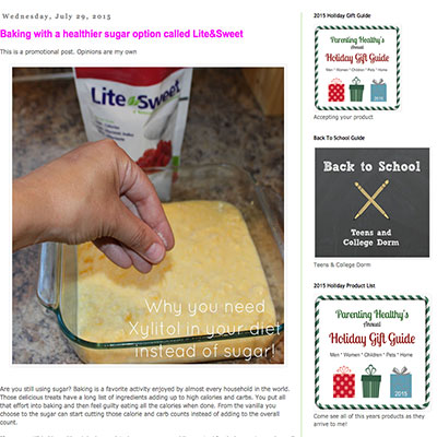 Parenting Healthy bakes with Lite&Sweet xylitol sweetener