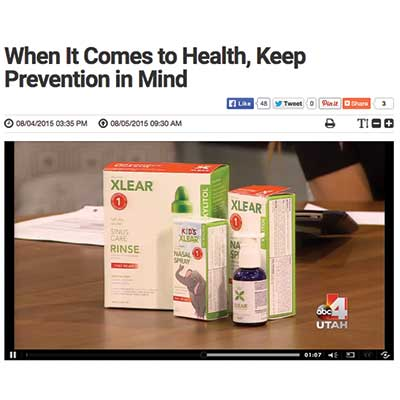 Xlear helps prevent allergies and moisturize nasal passages