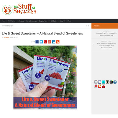 TheStuffofSuccess.com reviews the Lite&Sweet Xylitol Sweetener